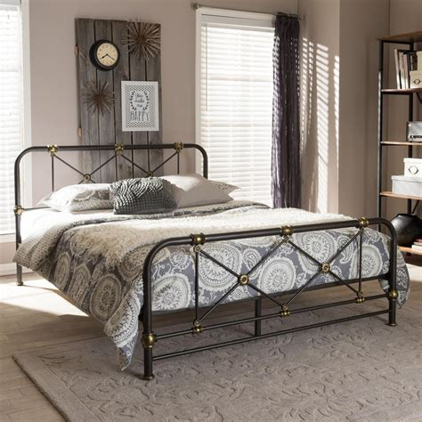 industrial platform bed zuo gilded age dove gray king sleigh 100566 the home depot