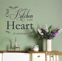 kitchen heart home quote wall art sticker decal dining room diner ebay