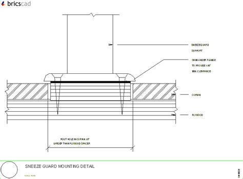 Corian Details Sneeze Guard Mounting Detail Aia Cad Details Zipped