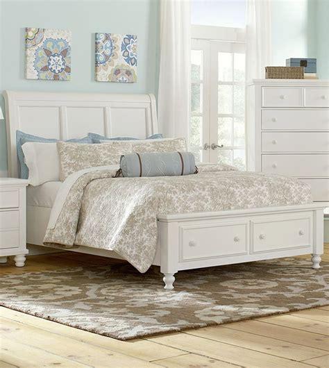 ellington bedroom set ellington queen sleigh storage bed in white vaughan