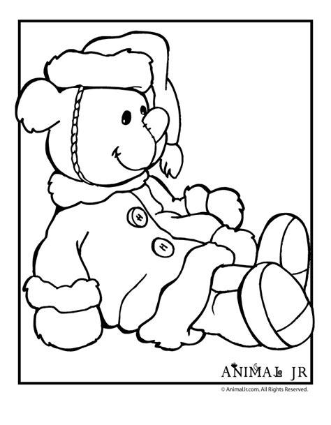 santa bear coloring page santa teddy bear coloring page animal jr