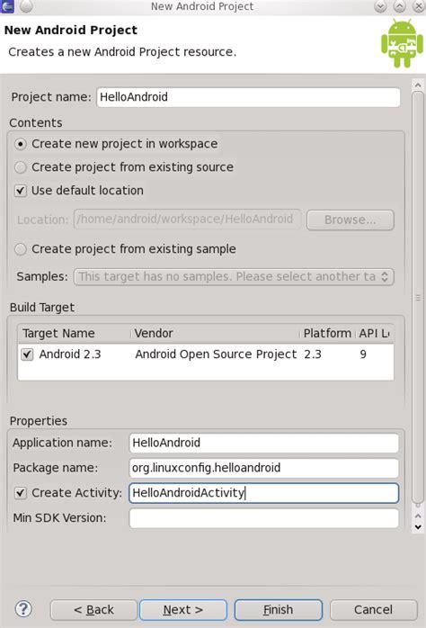membuat aplikasi android di linux ubuntu instalasi dan membuat aplikasi android dengan eclipse