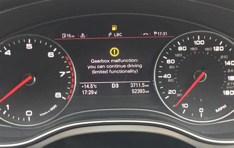audi a4 light malfunction question gearbox malfunction