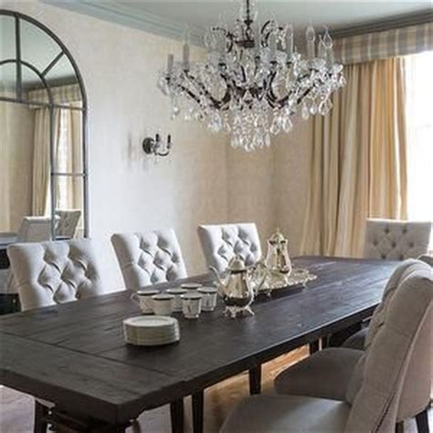 dining room linens linen tufted dining chairs transitional dining room