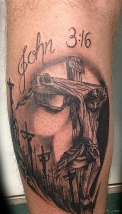 cross tattoo on leg leg tattoos