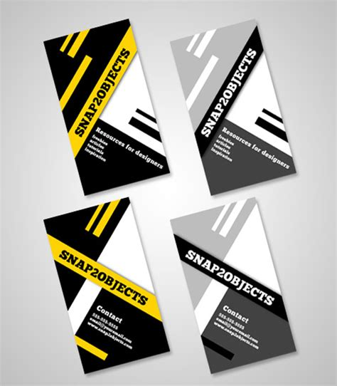 business card template pack template photoshop psd kartu nama unik free