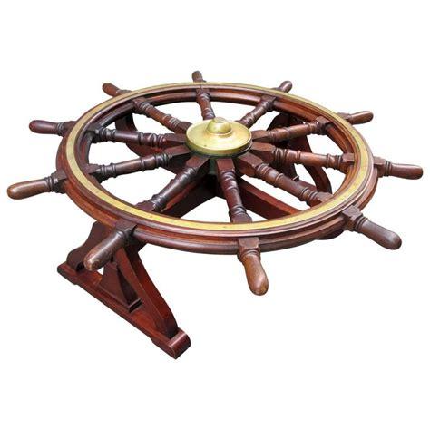 18th century mahogany frigate ship s wheel coffee