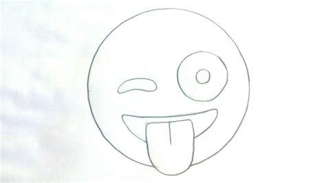 imagenes emoji para imprimir c 243 mo dibujar un emoji sacando la lengua emojis whatsapp