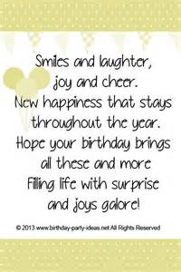 birthday card sayings smiles and laughter and cheer new happiness that