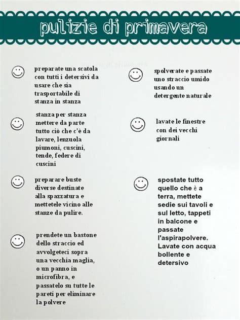 Come Organizzare Le Pulizie Di Casa Giornaliere by Schema Pulizie Di Primavera Casa Dolce Casa