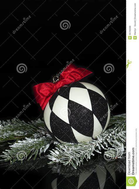 black white christmas ornament 2 royalty free stock photos