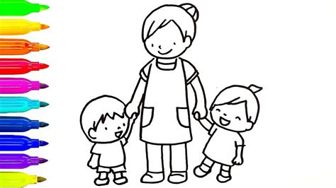 and babies drawing for coloring books learn colors painting for children