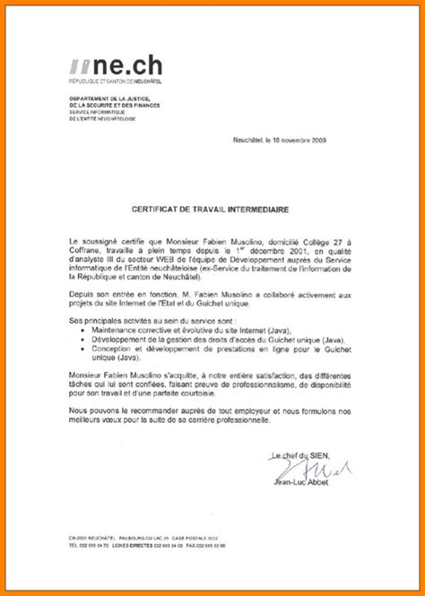 certificat de travail exemple 1 consequently