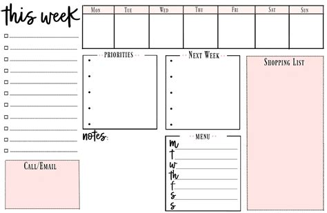 printable to do list com weekly printable to do list for getting organized