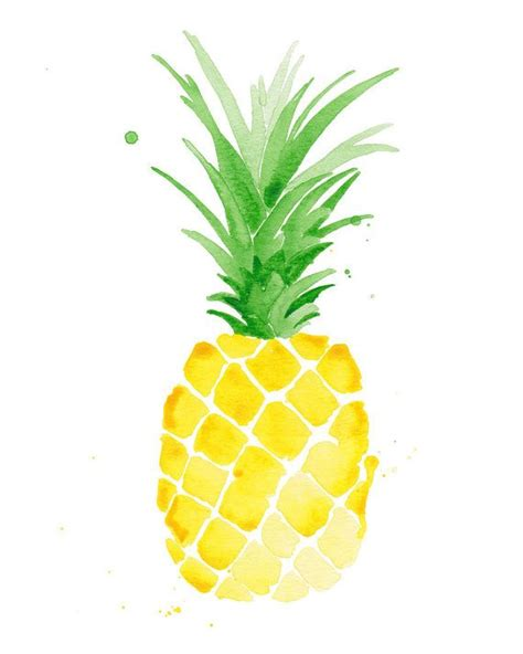 pineapple wallpaper pinterest pineapple watercolor print pineapple print pineapple decor