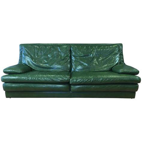 green leather couch for sale vintage roche bobois green leather sofa for sale at 1stdibs