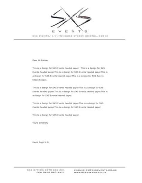 headed paper freelance graphic designer