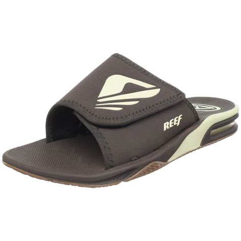 mens slide sandals reef mens byob slide sandal in black for brown lyst