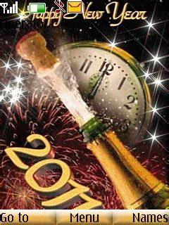 themes year clock download new year smoke clock nokia theme mobile toones
