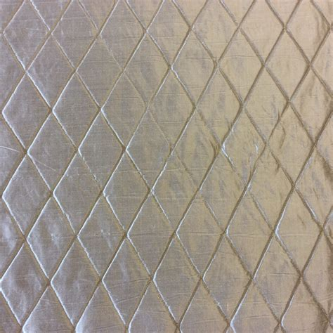 drapery cloth hd87 nl261 platinum grey harlequin quilted silk fabric