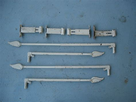swing arm hardware vintage swing arm curtain rods with wing finales