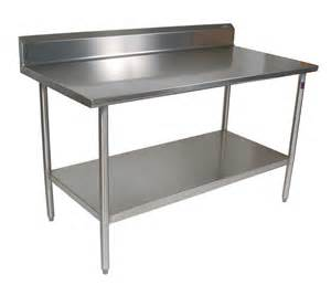 14 stainless steel foodservice work table