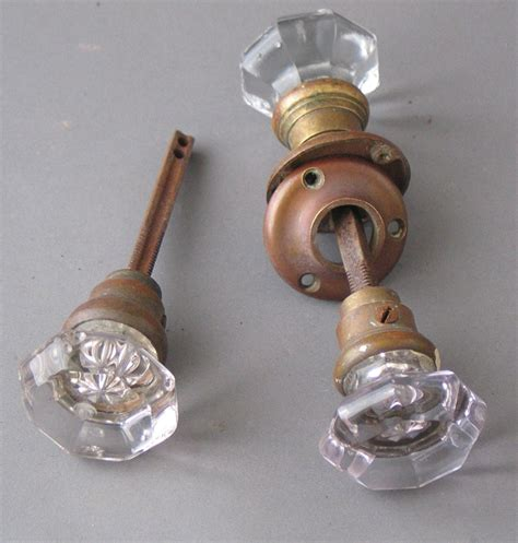Antique Glass Door Knobs 1 Pair Antique Glass Door Knobs Glass Interior Door Knobs