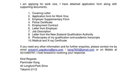 Cover Letter Exles New Zealand Cover Letter For Visa Application New Zealand Essay Potna Make Youvisa Application Letter