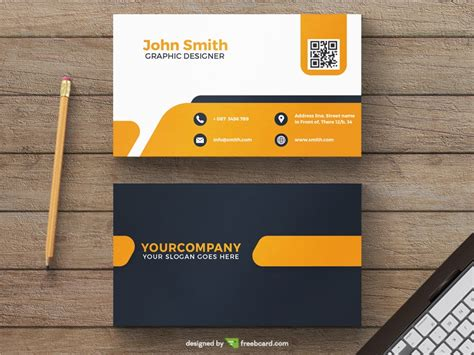 orange and black business card psd design techfameplus yellow minimal business card template freebcard