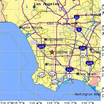 zip code map gardena ca gardena california ca population data races housing