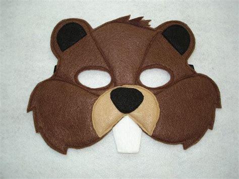 printable beaver mask children s beaver felt woodland animal mask