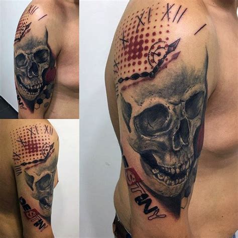 100 trash polka tattoos for men masculine design ideas