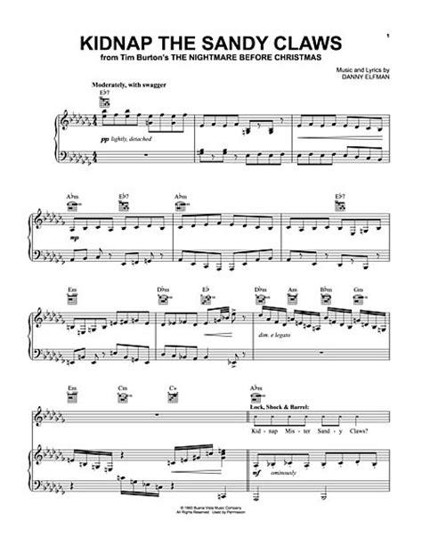 danny elfman worksheet nightmare before christmas clarinet sheet music free