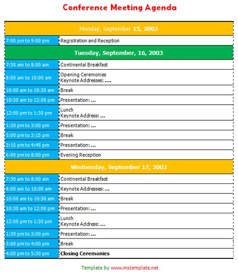 46 Brilliant Samples of Agenda Template Word : Thogati