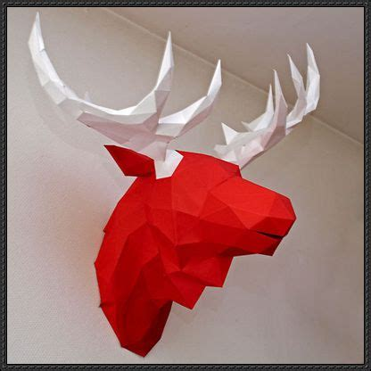 paper hanging crafts moose wall hanging free paper craft http