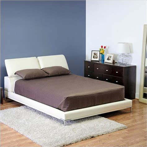white leather platform bed white platform beds tufted