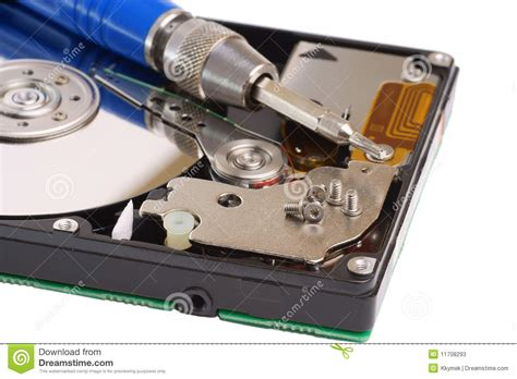Repair Harddisk diagnostic and repair magnetic computer disk stock