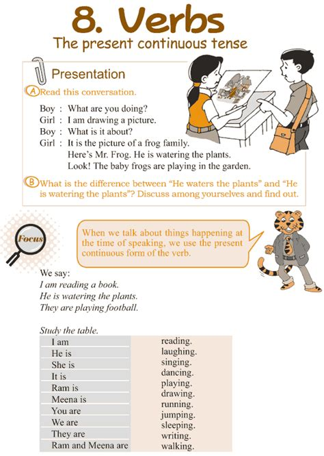 lesson 2 2 5 tenses and 5 forms of the verb purland training good grammar 187 grade 3 grammar lesson 8 verbs the