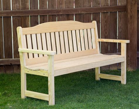 english garden bench treated pine english garden bench