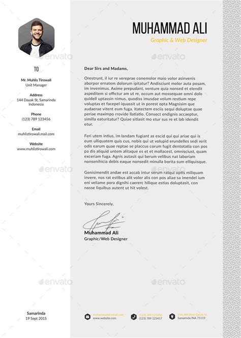 cover letter pattern pattern resume by kholistudio graphicriver
