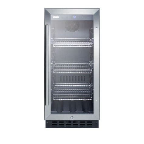 Mini Fridge Glass Door Summit Appliance 15 In 2 45 Cu Ft Mini Refrigerator With Glass Door In Black Scr1536bg The