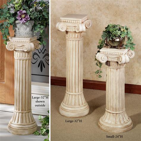 Outdoor Pedestals ionic indoor outdoor pedestal column