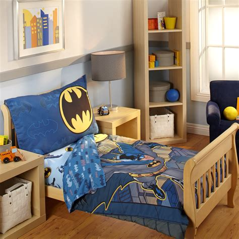 batman toddler bed set batman 4 piece toddler bedding set reviews wayfair
