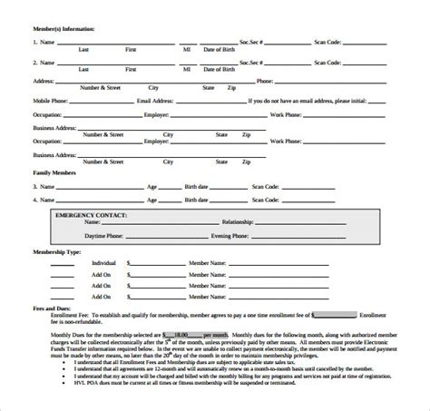 gym contract template 14 free word pdf documents