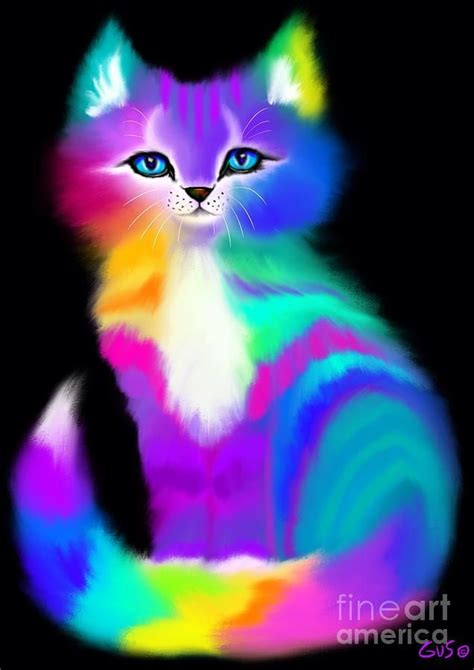 colorful cats colorful striped rainbow cat by nick gustafson pops of