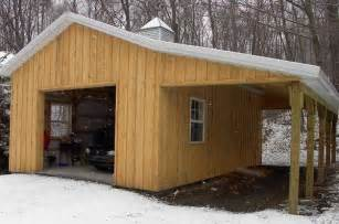 how to build a lean to board baton pole barn with lean