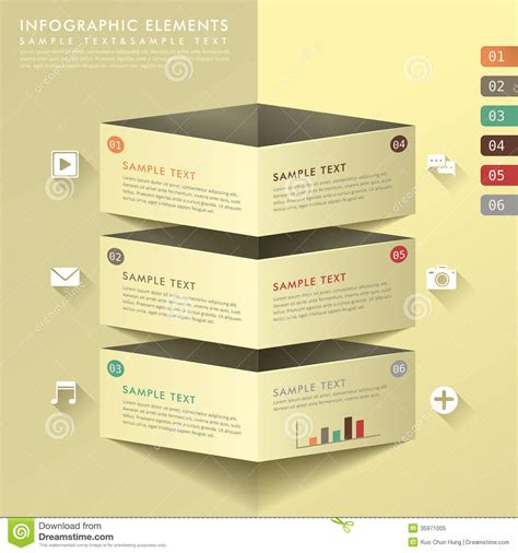 banners flat design elements vector 18 abstract banner infographics royalty free stock photo