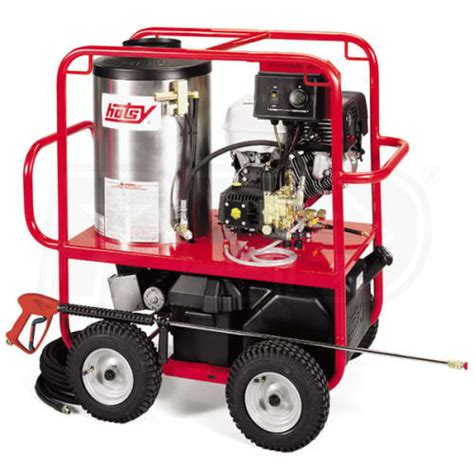 hotsy sse professional  psi gas hot water pressure washer  honda engine electric start