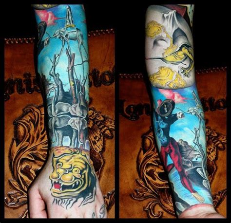 dali tattoo salvador dali swans reflecting elephants my fav