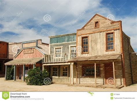 Arizona House Plans wooden buildings in an american town stock images image
